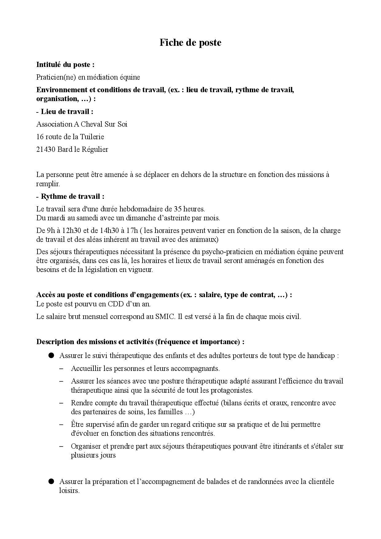 Fiche de poste Praticien(ne) en médiation équine-page-001
