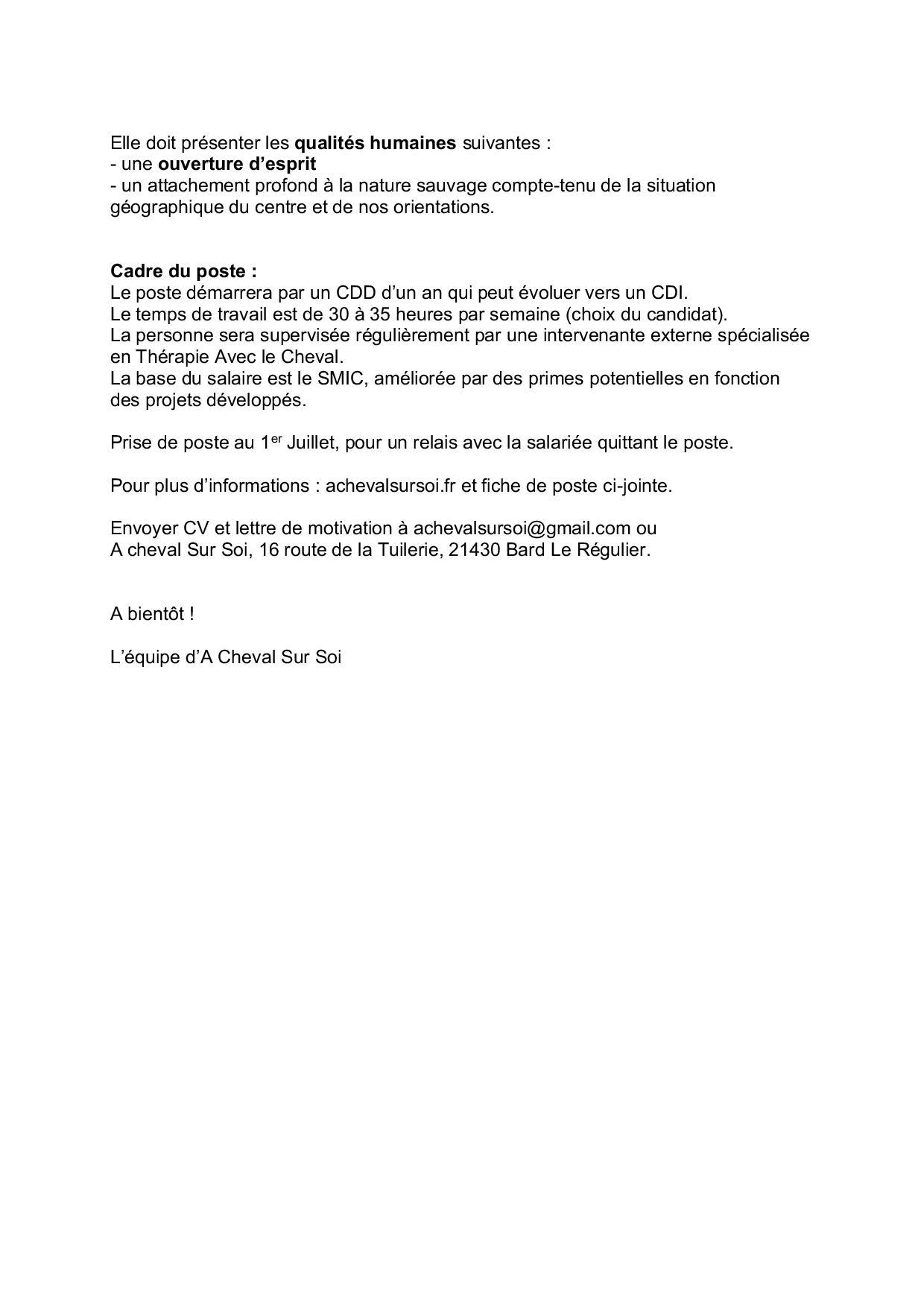 Offre d emploi Praticien(ne) en Médiation Equine A Cheval Sur Soi-page-002